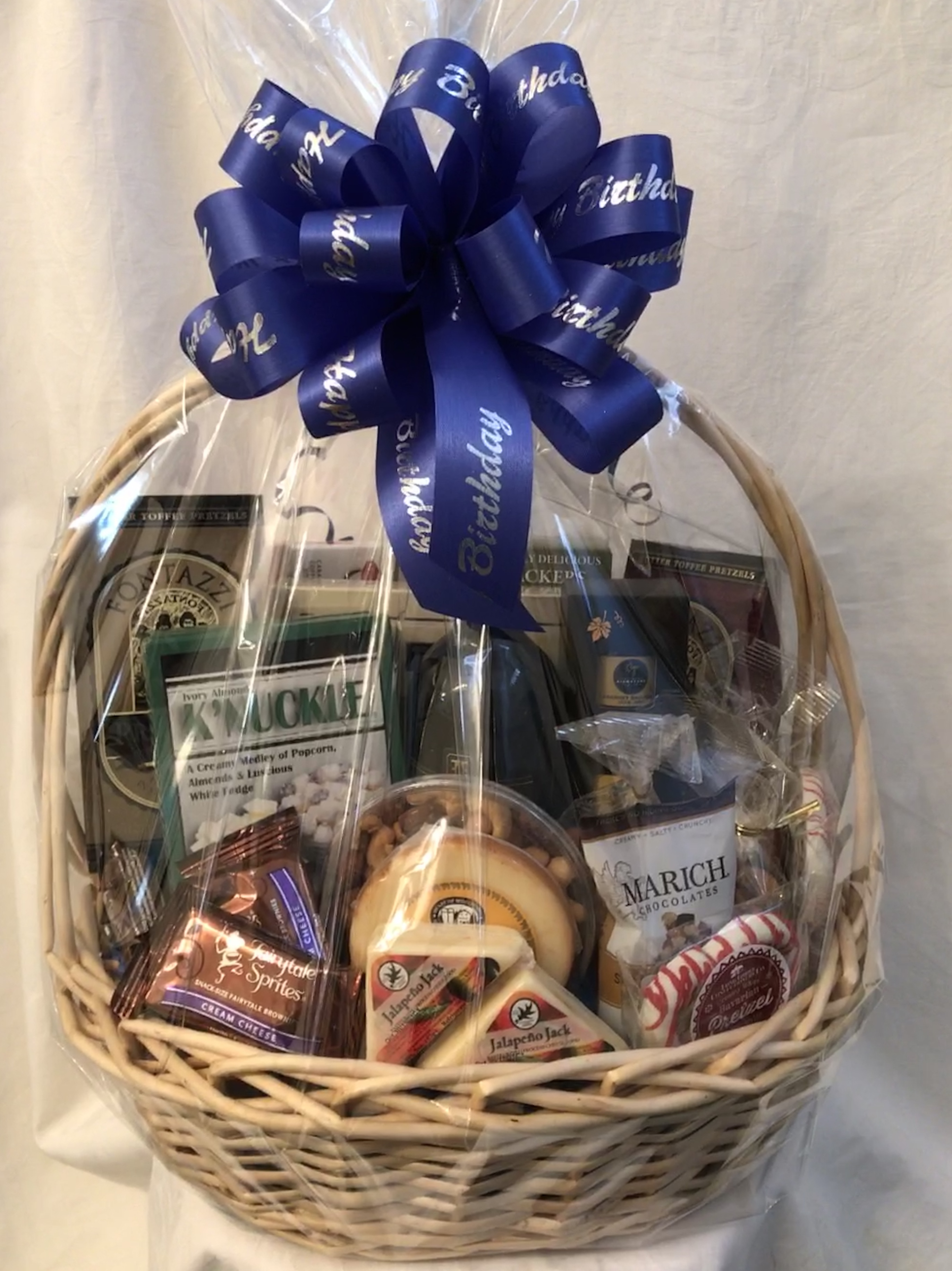 All Occasion Gift Basket With Wine And Cheese